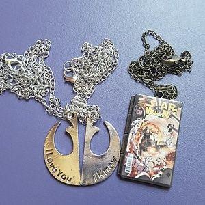 Jewelry - Star Wars Fashion Jewelry 3 Necklace Set NEW